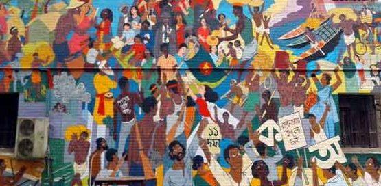 নজিরবিহীন দেয়ালচিত্র আঁকলেন শাবিপ্রবির শিক্ষার্থীরা
